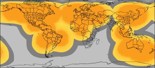 Grå zon innebär begränsad eller ingen täckning.