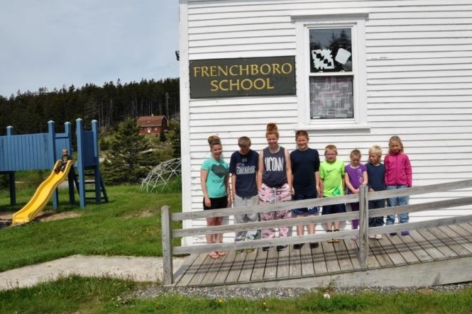 Lovis och Otto utökade antalet elever på Frenchboro-skolan med nästan 30 procent.