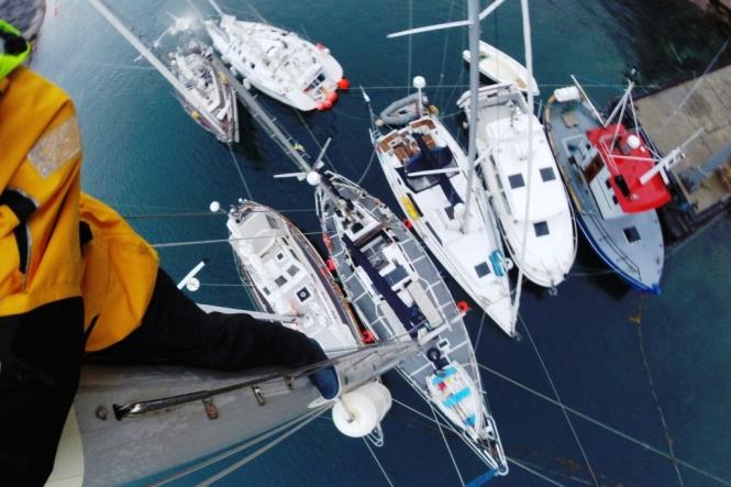 Sju båtar på sex meter kaj