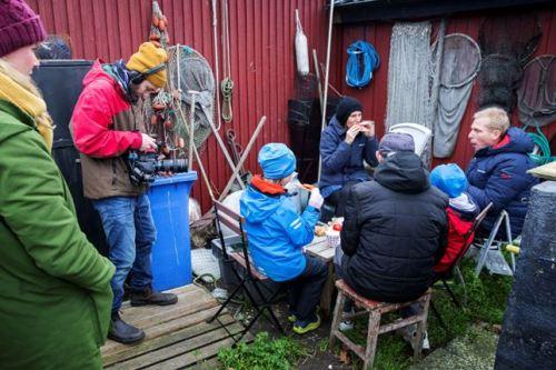 Från gårdagens inspelning i Limhamn. Foto: Sydsvenskan