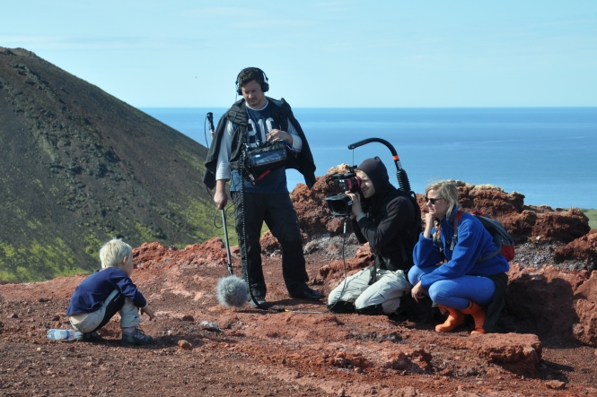 Inspelning på Island