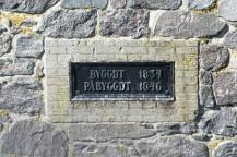 De nuvarande fyrtornen är byggda av sten från Varbergs fästning